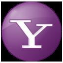lilac, button, social, yahoo icon