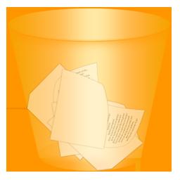 recycle bin, full, trash icon