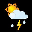 Flash, Littlecloud, Rain, Sun icon