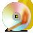 cd, spectrum, burning icon