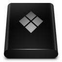 bootcamp, drive, black icon