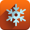 new year, snow icon