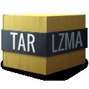 lzma, tar, application/x-, compressed icon