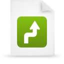document, green, paper, file icon