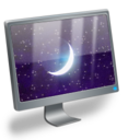 sleeping,computer icon