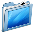 desktop, blue icon