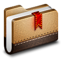 Bookmark Brown Folder icon