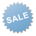 blue, label, burst, sale icon