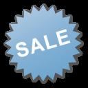 sale, blue, label icon