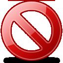 forbidden, delete icon