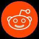 social-media, outline, reddit, circle icon
