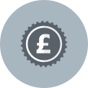 coin, money, pound, british, currency, cash icon
