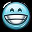 Emot Big Grin Grinning Smiling Lol icon
