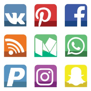 Small Lower Shadow Social Media icon sets preview
