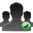user, group, check icon