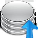 commit, arrow, up, upload, database icon