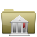 Folder Library Brown icon