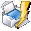 print, lightning, power, quick icon