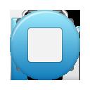 Blue, Button, Stop icon