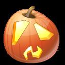 shock, jack o lantern, pumpkin, halloween icon