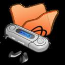 Folder orange mymusic icon