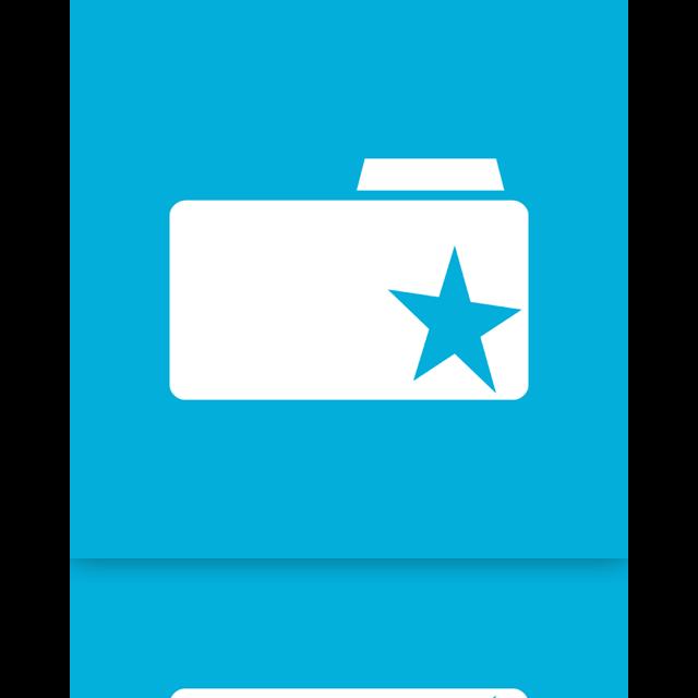 bookmark, folder, mirror icon