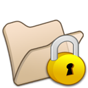 locked, beige, folder icon