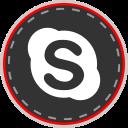 media, online, social, skype icon