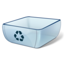 blue,recyclebin icon