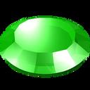 gem, green, stone, round, gemstone icon