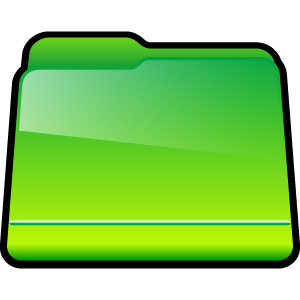 green, generic, folder icon