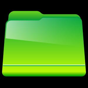 green, generic, folder icon