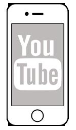 grey, youtube icon | iPhone social icons icon sets | Icon Ninja