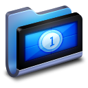 Movies Blue Folder icon
