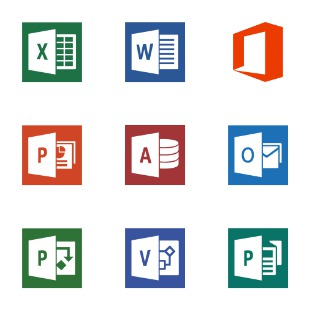 Microsoft Office icon sets preview