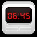 Clock Alarm White icon