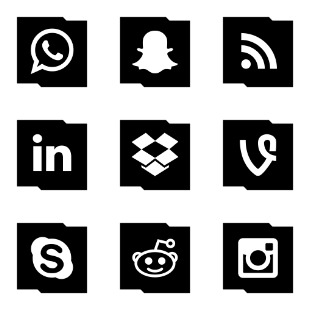 Social Media and Logos ! icon sets preview