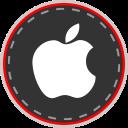 media, apple, social, online icon