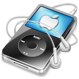 apple, black, video, ipod icon