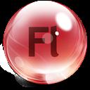 Flash, Glass icon