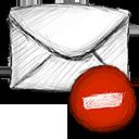 email, delete icon
