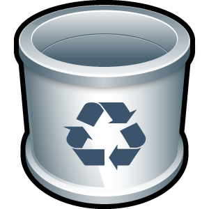trash, folder, blank, recycle bin, empty icon