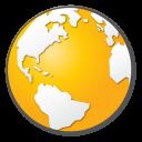 globe, world, earth, yellow, internet icon