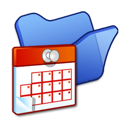Blue, Folder, Scheduled, Tasks icon