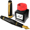 pen, ink, antique, office icon