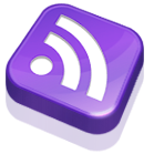 subscribe, rss, purple, feed icon
