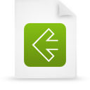 file, paper, green, document icon