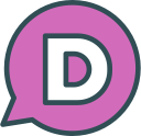 brand, disqus, network, social, logo icon