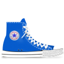 converse, blue icon
