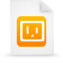 orange, file, paper, document icon